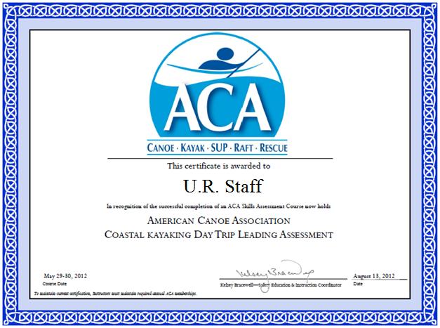 ACA Trip Leader Certificate